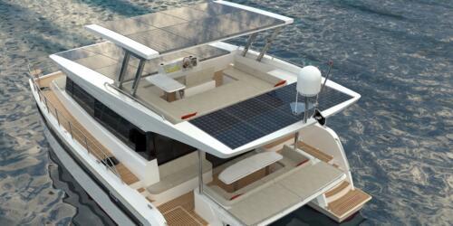 Solar Electric Yachts Sunpower Yachts 44 Aft PORT Top-3