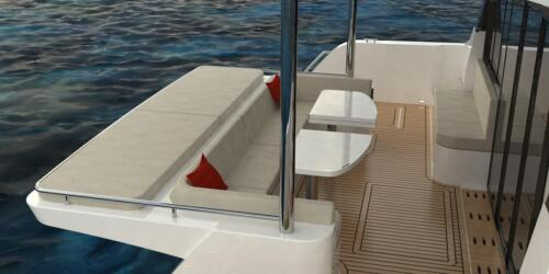 Solar Electric Yachts Sunpower Yachts 44 Aft Seat --4 (1)