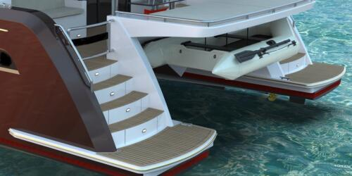 Solar Electric Yachts Sunpower Yachts Sy44-deep red gold white.131-8